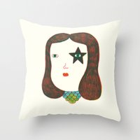 talking heads Throw Pillows featuring Heads by Ana Albero