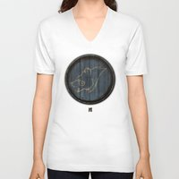 skyrim V-neck T-shirts featuring Shield's of Skyrim - Windhelm by VineDesign