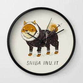 shiba inu-it Wall Clock