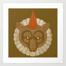 Circusbear Art Print