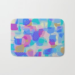 blue green and pink drawing and painting background Bath Mat