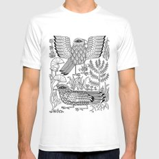 Ancient Birds Mens Fitted Tee MEDIUM White