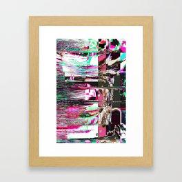 GLITCH 1 - TumblingStumblingPop Framed Art Print