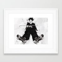 chaplin Framed Art Prints featuring CHAPLIN by Analy Diego