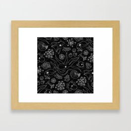 Cephalopods - Black and White Framed Art Print