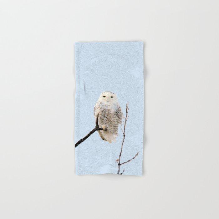 Snowy in the Wind (Snowy Owl) Hand & Bath Towel