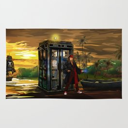 10th Doctor who Lost in the pirates age iPhone 4 4s 5 5s 5c, ipod, ipad, pillow case and tshirt Rug