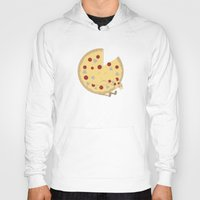 pizza Hoodies featuring Pizza! by Terry Irwin