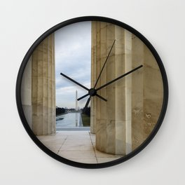Washington Monument through the columns of the Lincoln Memorial Wall Clock