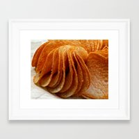 potato Framed Art Prints featuring Potato Chips by Guna Andersone & Mario Raats - G&M Studi