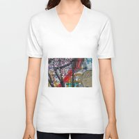 sparkles V-neck T-shirts featuring bricks & sparkles by AntWoman