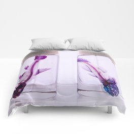 Fluorescent Fishbones Comforters