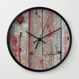 Red Nut Wall Clock