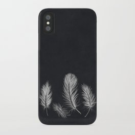 Chalk feather collection iPhone Case
