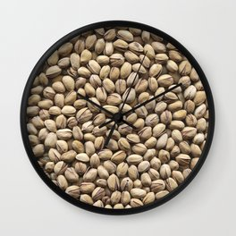 Pistachio. Background. Wall Clock