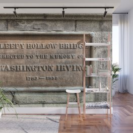 Washington Irving Memorial Plaque Wall Mural