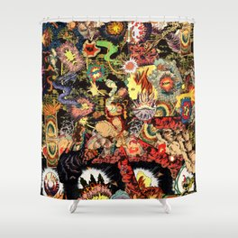 Chaos 2 Fire Shower Curtain