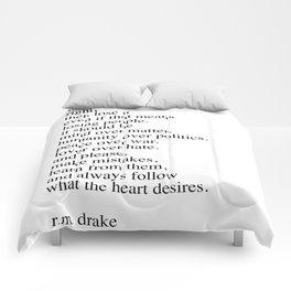r.m. Drake quote Comforters