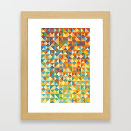 Triangles & Colors Framed Art Print