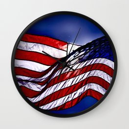 Flag USA Wall Clock
