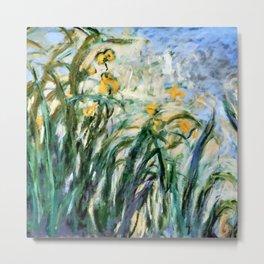 "Claude Monet ""Yellow Irises and Malva"", 1914 - 1917 Metal Print"