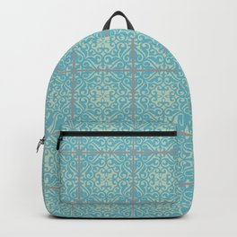 Vintage Fleur-de-lis Tile in Old World Tile Pattern Backpack