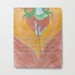 Mareia To Help You Blossom Metal Print