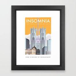 Insomnia (Final Fantasy XV) Travel Poster Framed Art Print