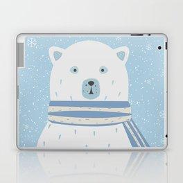 Polar White Bear with Scarf Laptop & iPad Skin