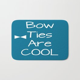 DOCTOR WHO Bow Ties Are Cool Teal Bath Mat