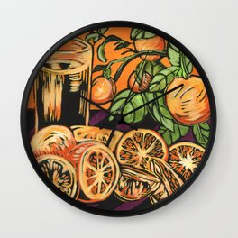 Oranges 1 Wall Clock