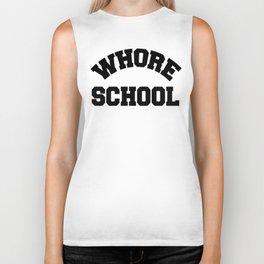 Whore School (black) Biker Tank