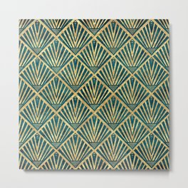 Stylish geometric diamond palm art deco inspired Metal Print