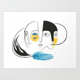 Palavras Art Print