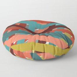 Watercolor Ribbons  Floor Pillow