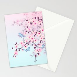 Cherry Blossom Landscape Stationery Cards