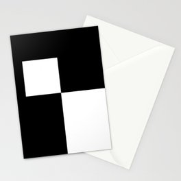 Black and White Color Block #2 Stationery Cards