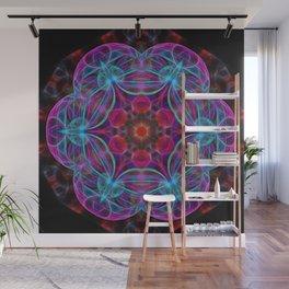 Vibrant wheel of fortune mandala Wall Mural