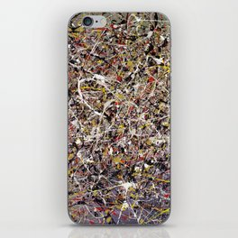 Intergalactic - abstract painting by Rasko iPhone Skin