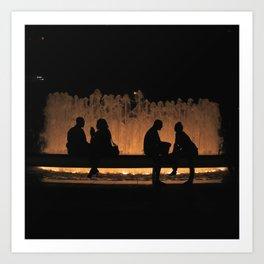 Lincoln Fountain Art Print