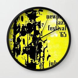 1965 Newport Jazz Festival Vintage Advertisement Poster Newport, Rhode Island Wall Clock