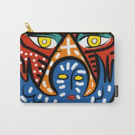 Blue Angel of Love with Eyes of Wisdom Street Art Carry-All Pouch