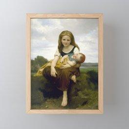 William Bouguereau - The Elder Sister, 1869 Framed Mini Art Print
