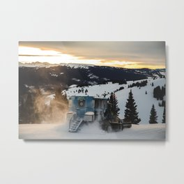 Snowcat at Sunset: Vail Ski Resort Metal Print