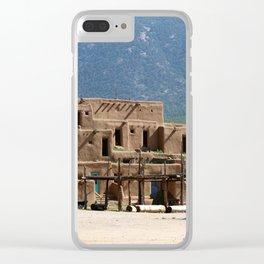 Taos Pueblo Clear iPhone Case