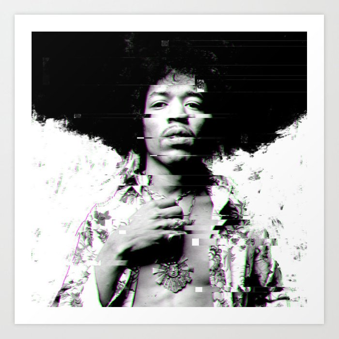 Hendrix, Jimi Art Print by Roon - X-Small