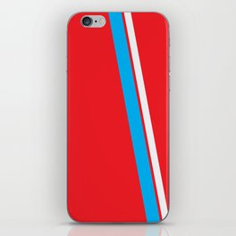 Red Slant iPhone Skin