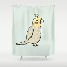 Happy Cockatiel Shower Curtain