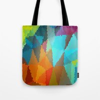stained glass Tote Bags featuring Stained Glass  by Latidra Washington