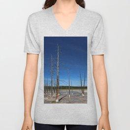 Lodgepole Pines In Geyser Basin Unisex V-Neck